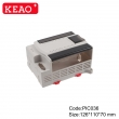 PLASTIC ABS junction electronics box enclosure din rail mount case PIC036 with size 126*110*70mm