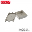ip65 waterproof enclosure plastic Wall-mounting Case plastic boxes enclosure PWM412 88*86*41mm